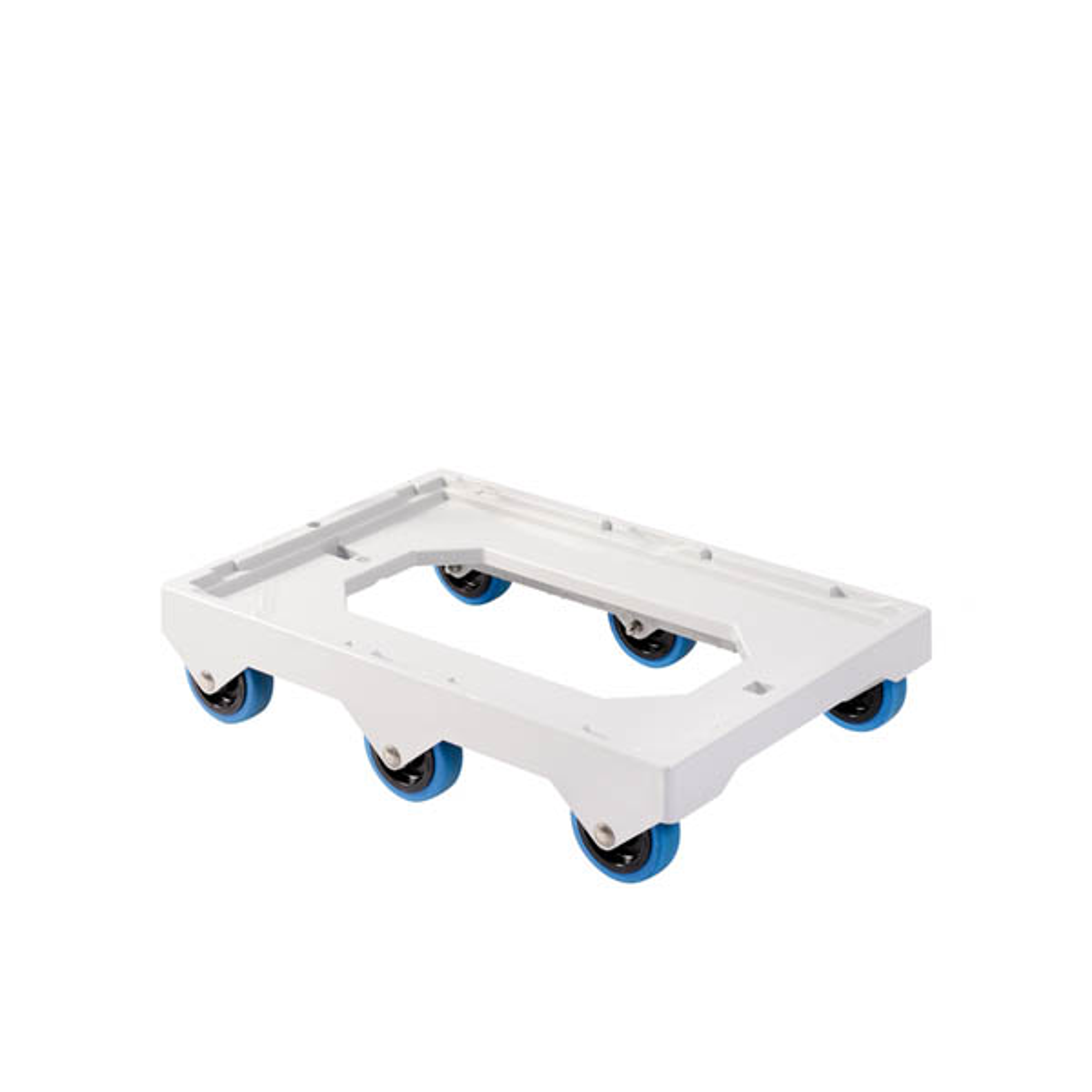 Socle 6 roues silence axe inox - gilac