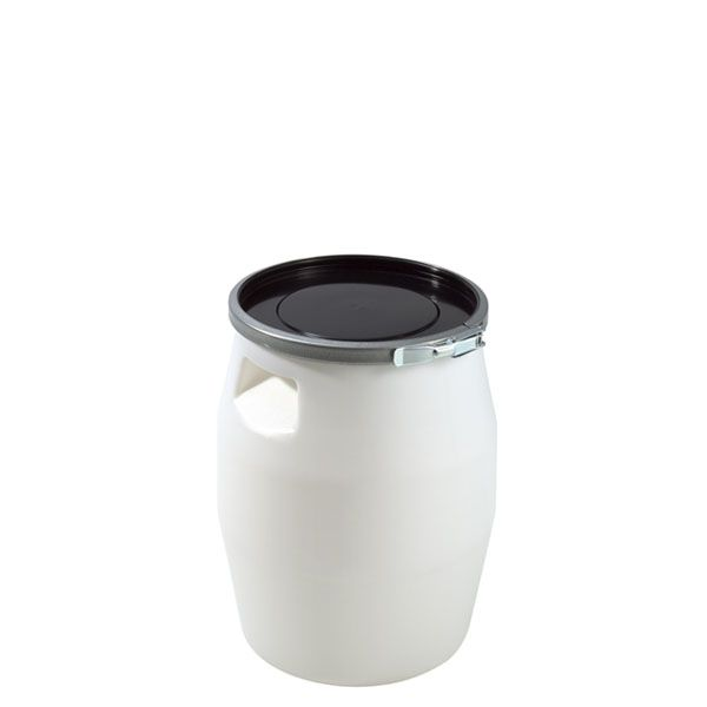 Fût 30 litres avec genouillère métal et couvercle noir - gilac