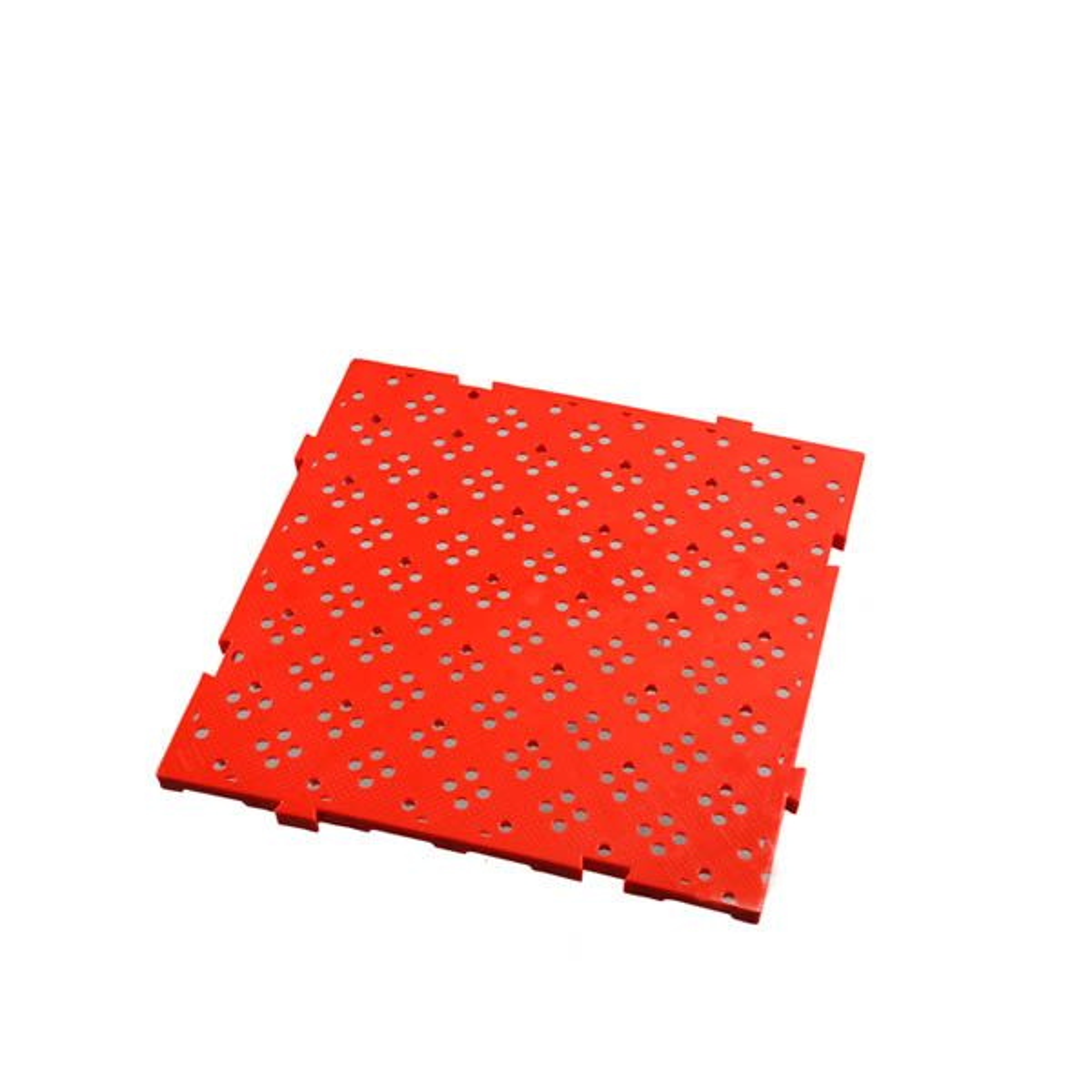 Caillebotis 50 x 50 cm coloris épaisseur 22 mm coloris rouge - gilac (photo)