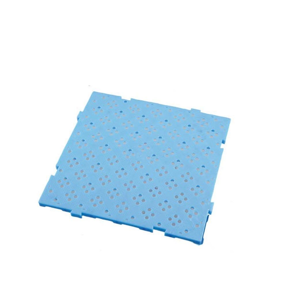 Caillebotis 50 x 50 cm coloris épaisseur 22 mm coloris bleu - gilac (photo)