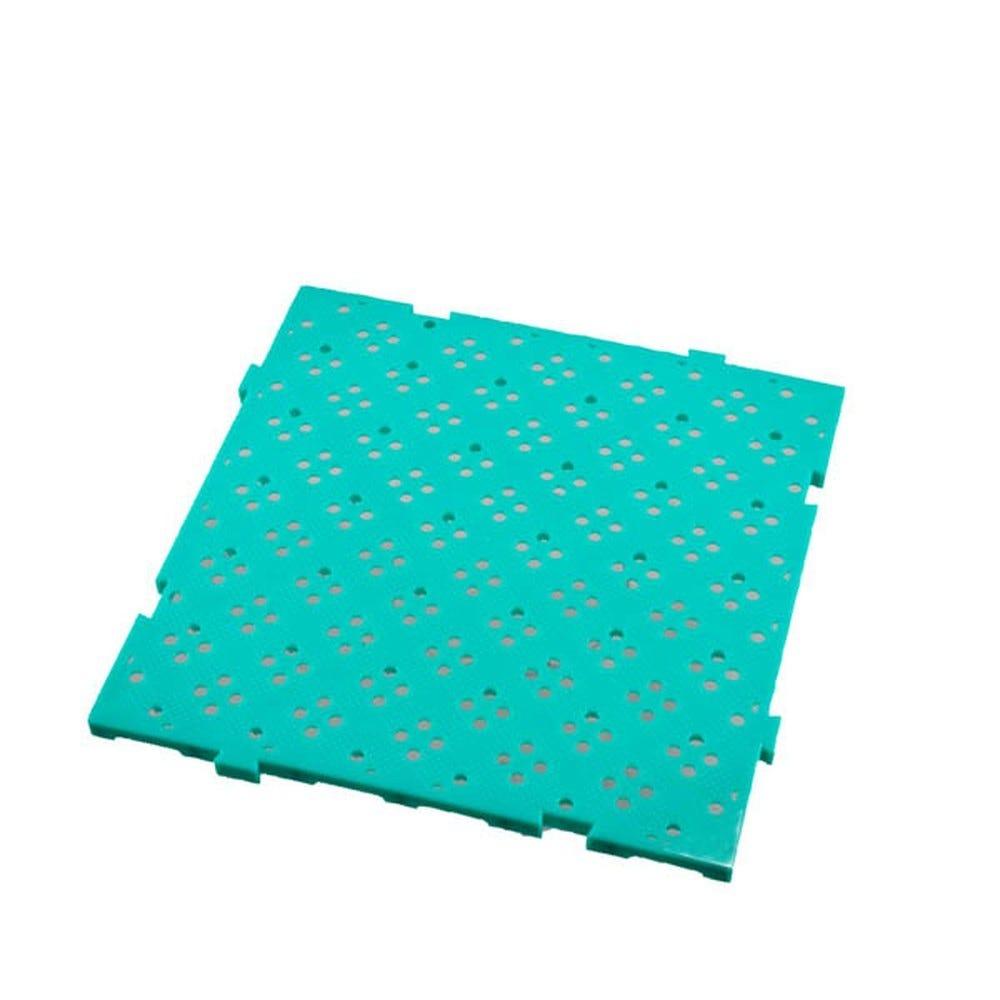 Caillebotis 50 x 50 cm coloris épaisseur 22 mm coloris vert - gilac (photo)