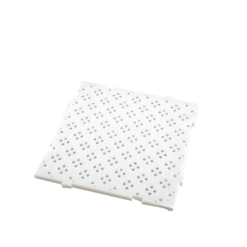 Caillebotis 50 x 50 cm coloris épaisseur 22 mm coloris blanc - gilac (photo)