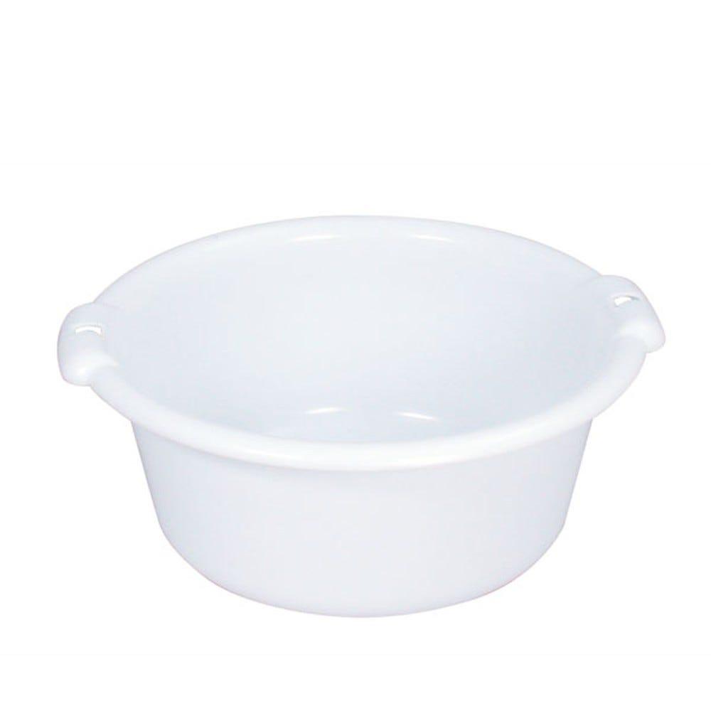 Cuvette ronde 14 litres coloris blanc - gilac