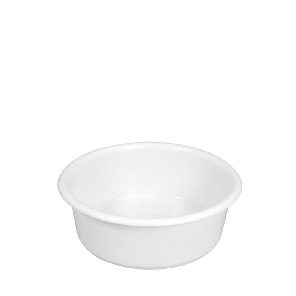 Bac à diviseuse rond 19 litres coloris blanc (photo)