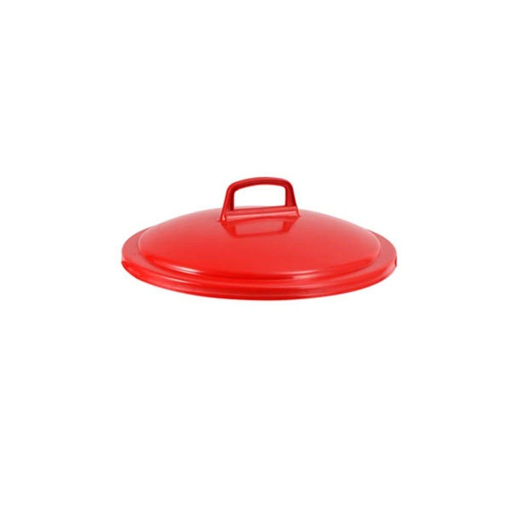 Couvercle conteneur 50 litres coloris rouge - gilac