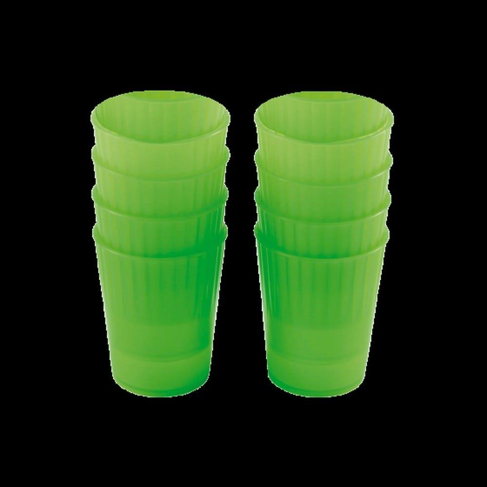 Gobelet 22 cl coloris vert réutilisable plastique dur - par 10 - gilac