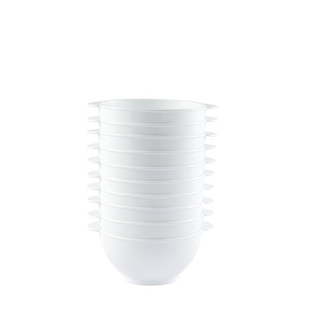 Bol à anses 50 cl coloris blanc réutilisable plastique dur- par 10 (photo)