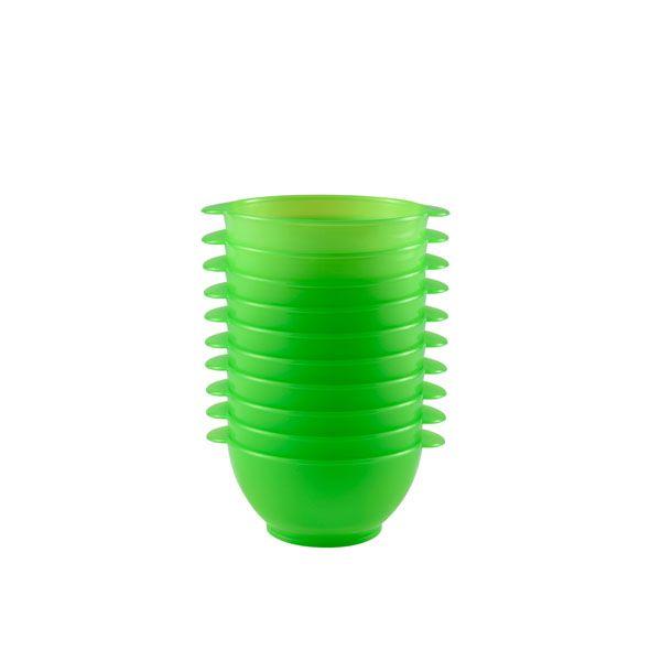 Bol à anses 50 cl coloris vert réutilisable plastique dur- par 10 (photo)