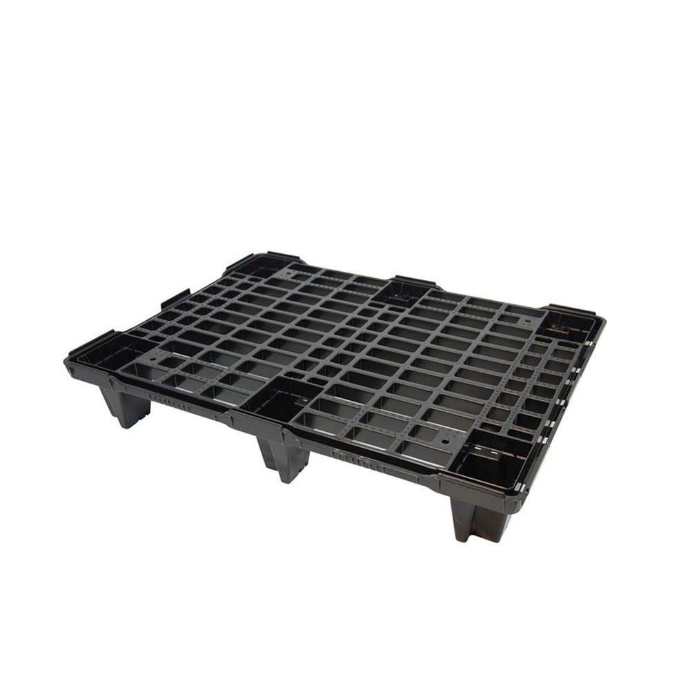 Palette légère emboîtable 600 x 800 - noir - gilac (photo)