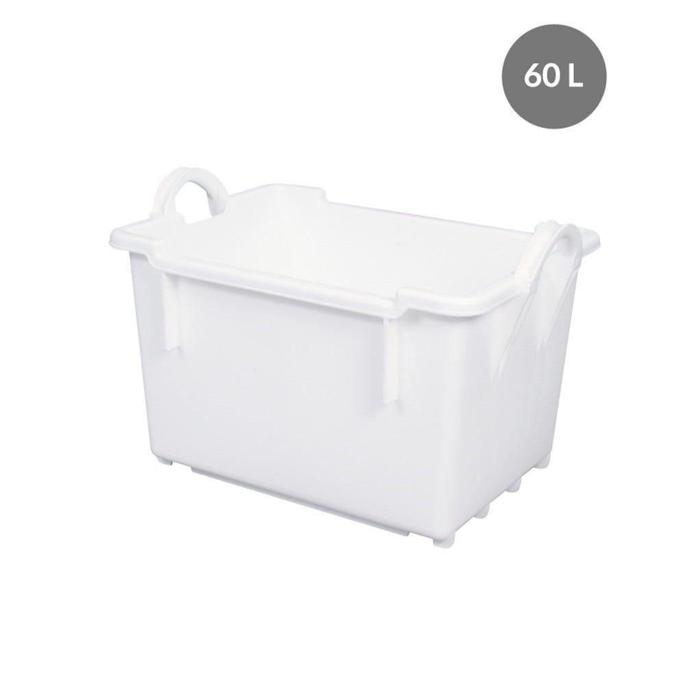 Bac comporte 60 l - blanc - gilac (photo)