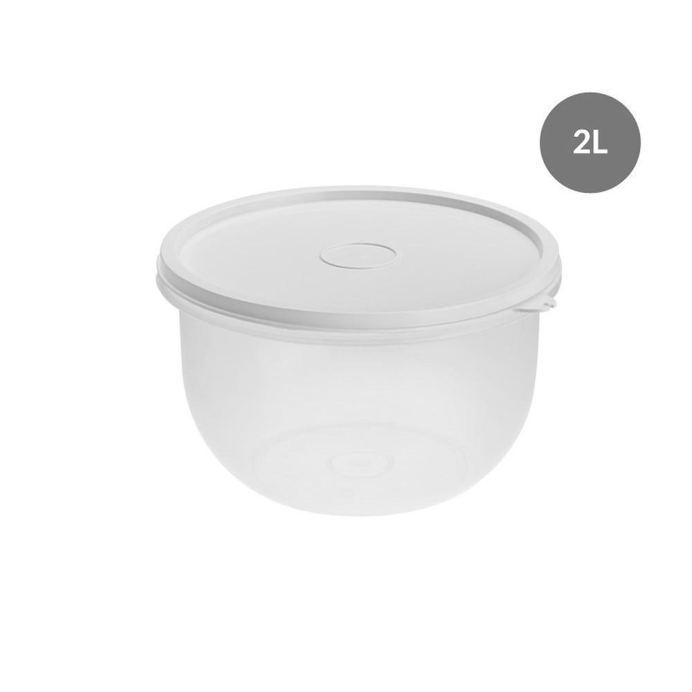 Boîte hermétique ronde 2 l - blanche - gilac