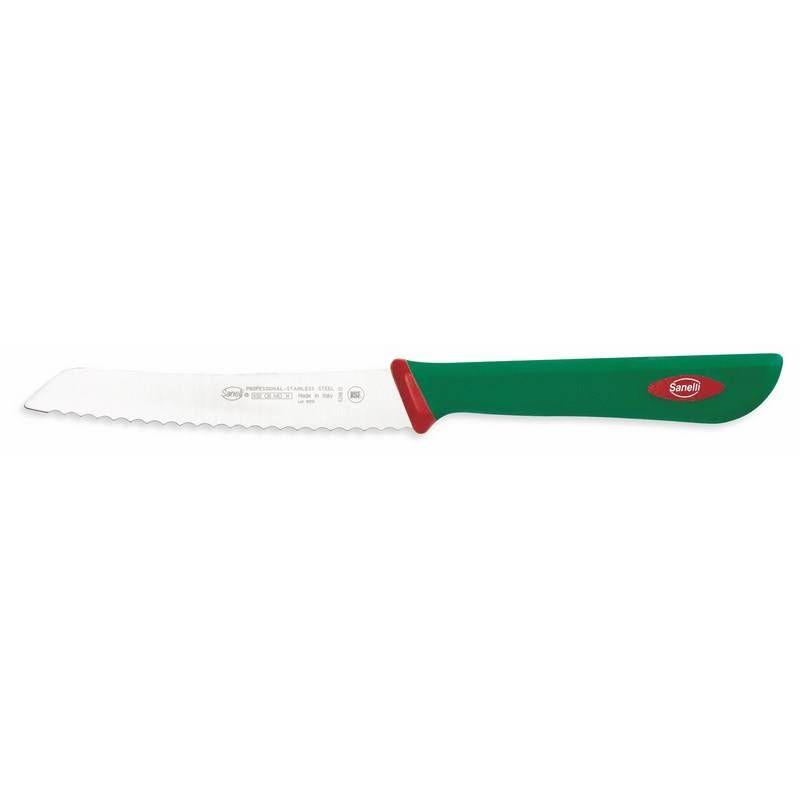 Couteau office cranté blanc de 10 cm