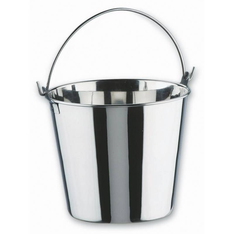 Seau inox 1.1 litre