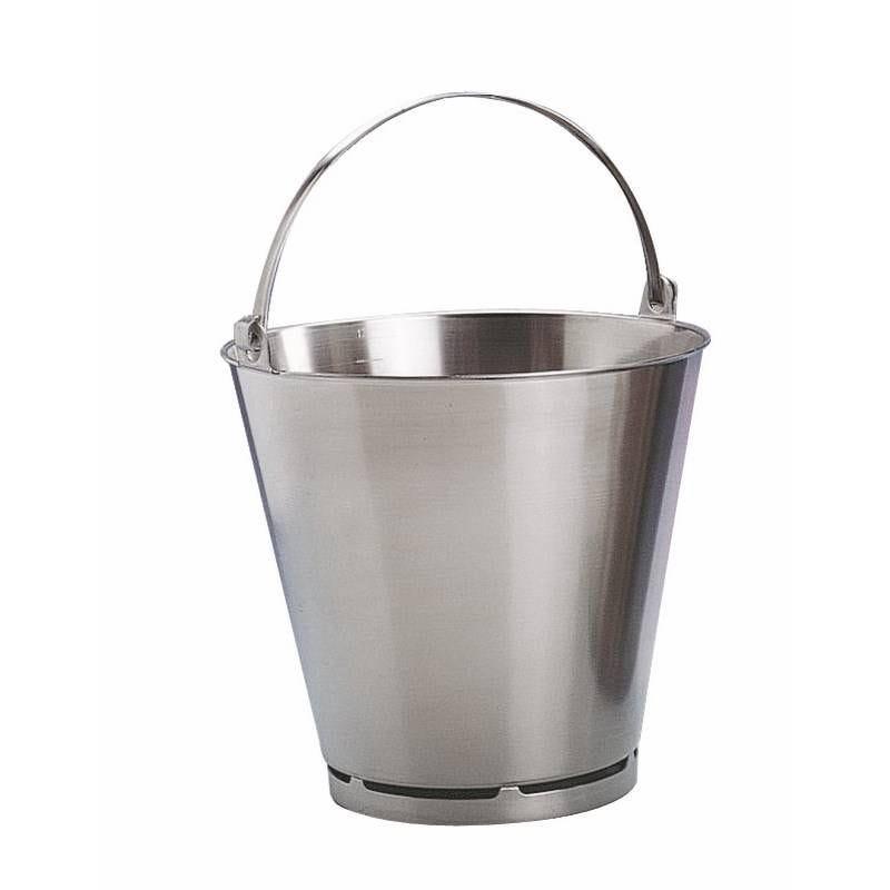 Seau avec pied inox 15 litres