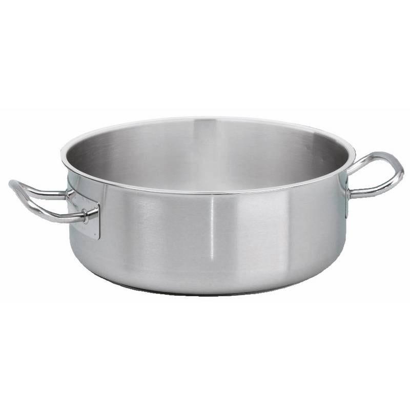 Batterie de cuisine inox pro 18/10 de ø50 cm - 39 litres (photo)