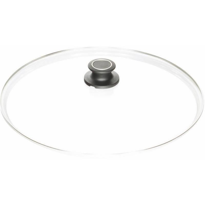 Couvercle verre bouton inox 28 cm