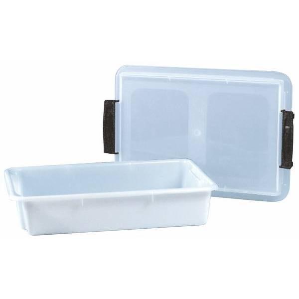 Bac rectangle plastique avec couvercle 16 litres