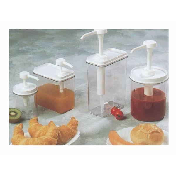 Distributeur à sauce rectangle 125 cl (photo)