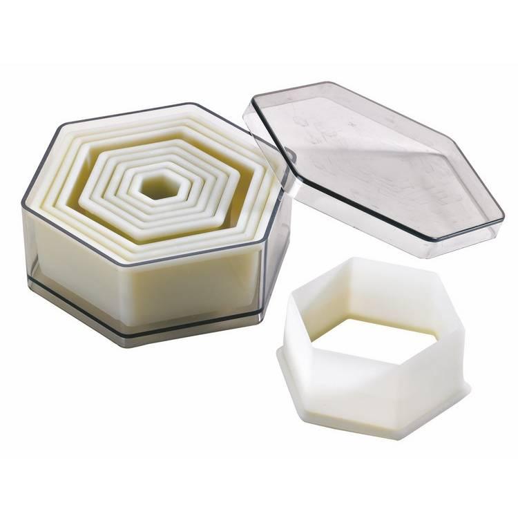 Boite 9 découpoirs hexagones polyglass (photo)