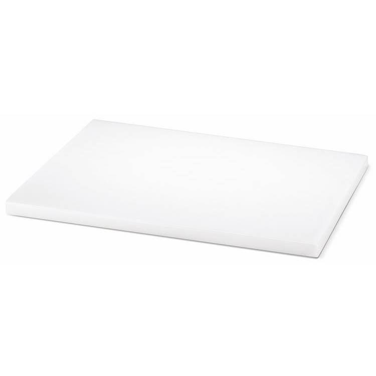 Planche à découper pehd 40 x 30 cm blanche (photo)