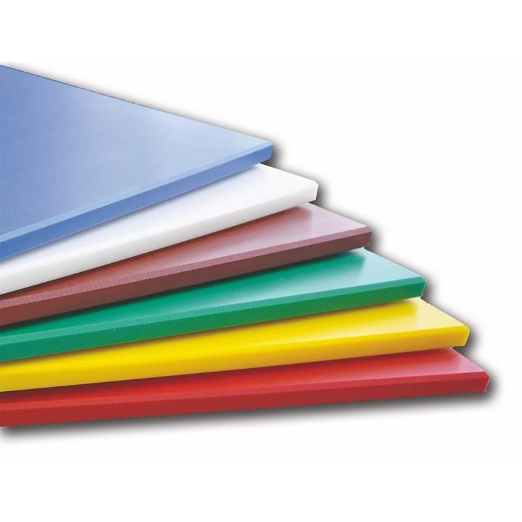 Planche à découper pehd 53 x 32,5 cm blanche (photo)
