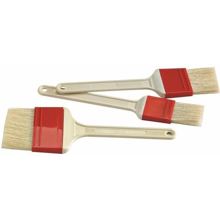 Pinceau soie bague rouge de largeur 75 mm
