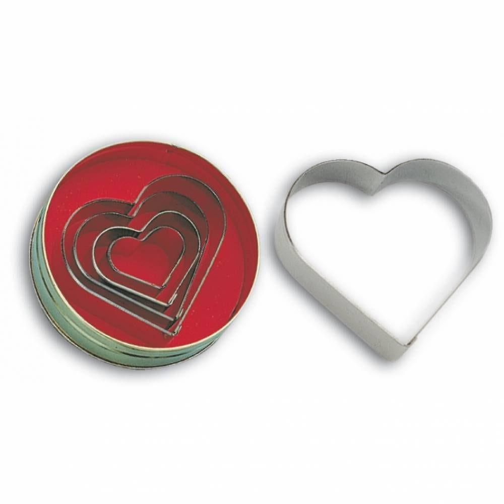 Bte 5 découpoirs coeur unis (photo)
