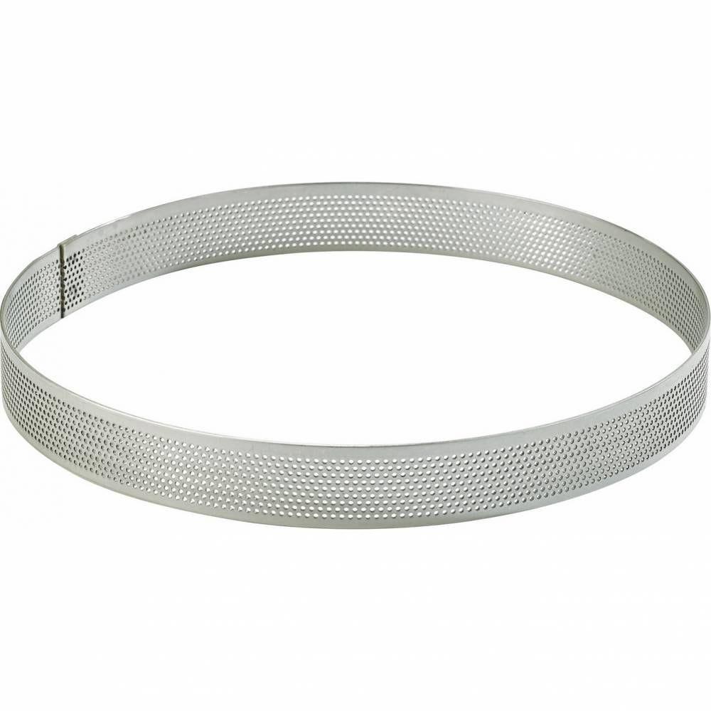 Cercle perforé inox de ø 14 haut 2 cm