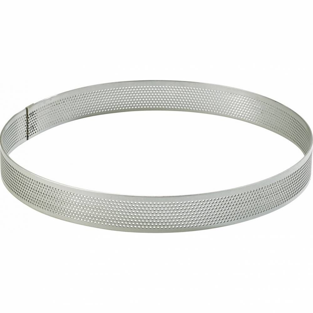Cercle perforé inox de ø 18 haut 2 cm