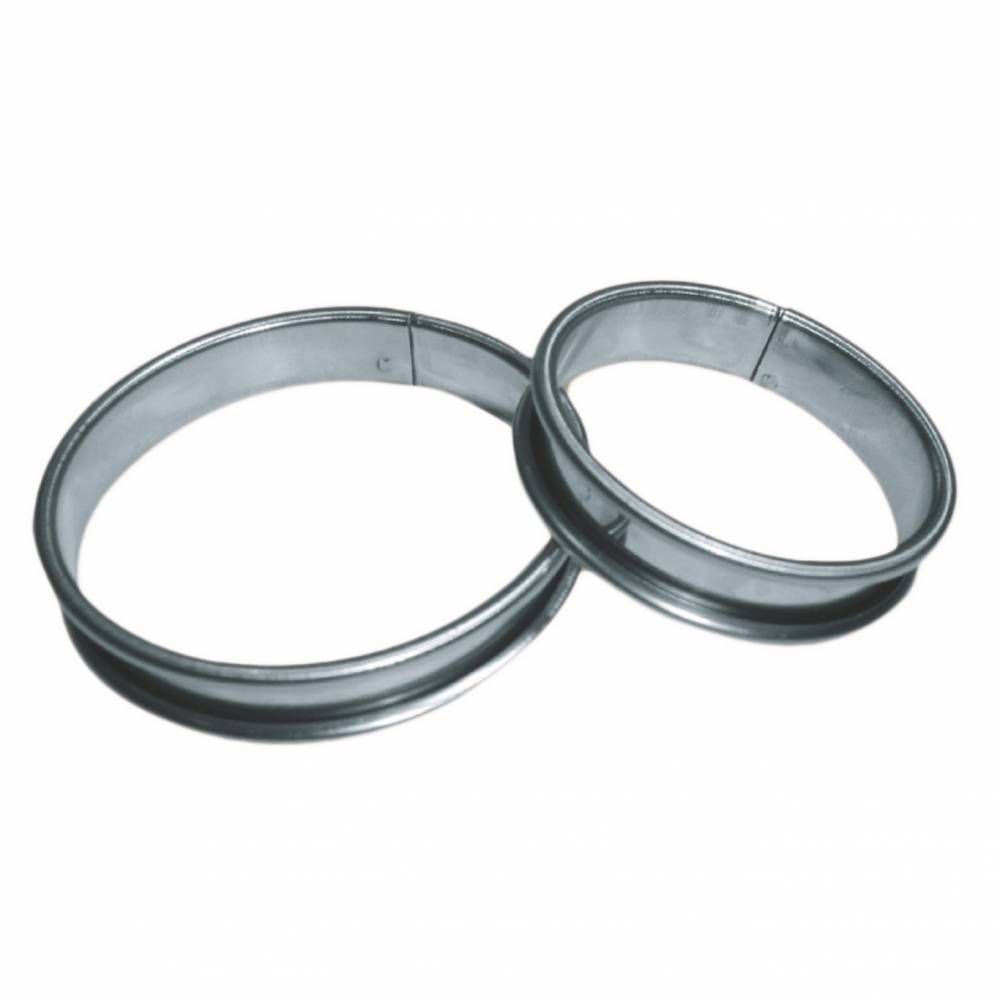 Cercle à tarte inox de ø 14 cm hauteur 2,1 cm