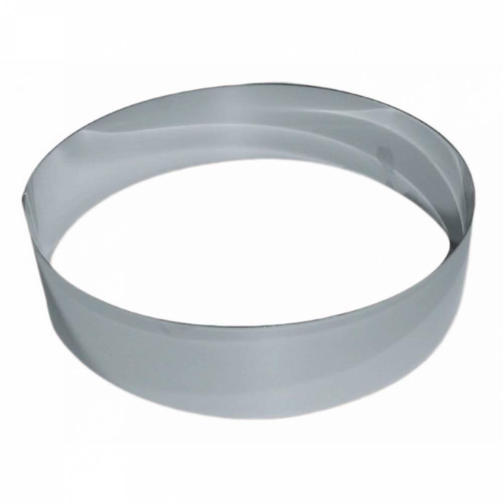 Cercle vacherin inox de ø 22 cm hauteur 6 cm