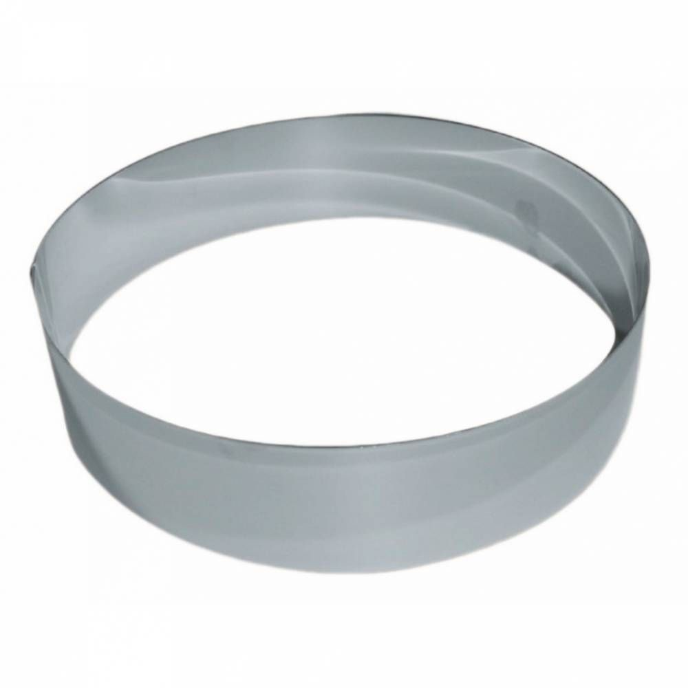 Cercle vacherin inox de ø 28 cm hauteur 6 cm