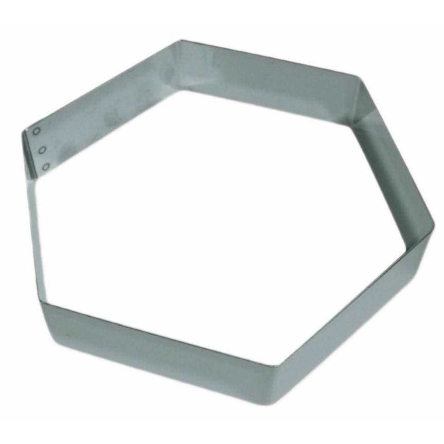 Hexagone mousse inox de 14 hauteur 4,5 cm