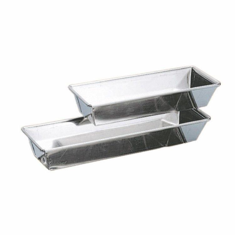Brioche rectangle nanterre fer blanc longueur 30 cm larg 8,5 cm hauteur 4 cm