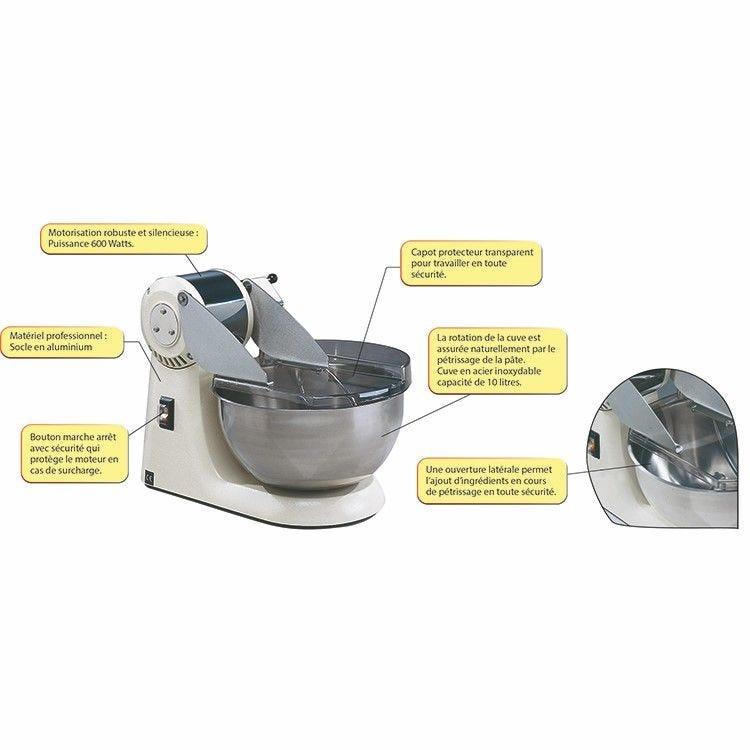 Pétrin mélangeur 10 litres