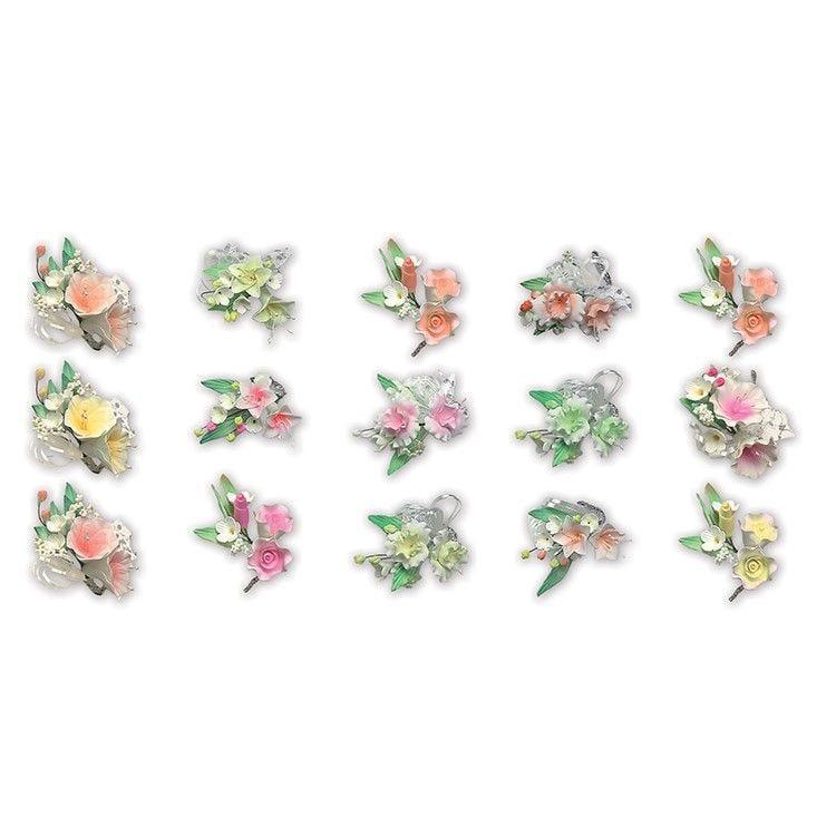 Assortiment 20 bouquets de hauteur 9 cm (photo)