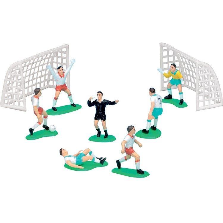6 joueurs de foot + 2 cages (photo)