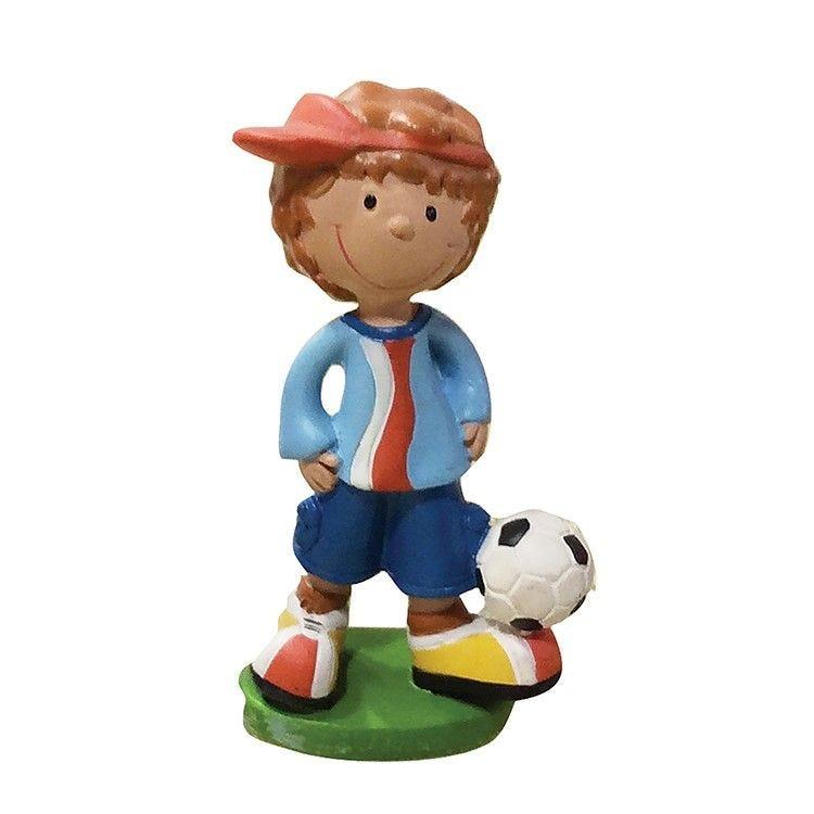 Enfant footballeur bleu hauteur 6 cm