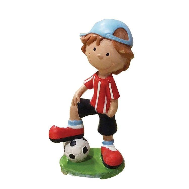 Enfant footballeur rouge hauteur 6 cm