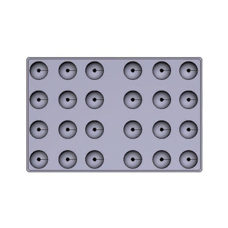 Moule silicone premium 24 alvéoles dômes 58 x 30 mm