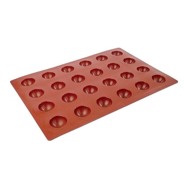 Moule silicone premium 24 alvéoles dômes 75 x 40 mm