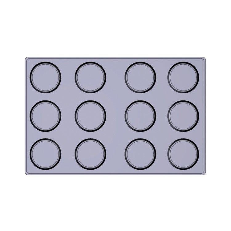 Moule silicone premium 12  alvéoles tatins ø 100 x 35 mm