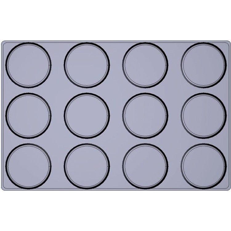 Moule silicone premium 12  alvéoles tatins  ø 120 x 35 mm