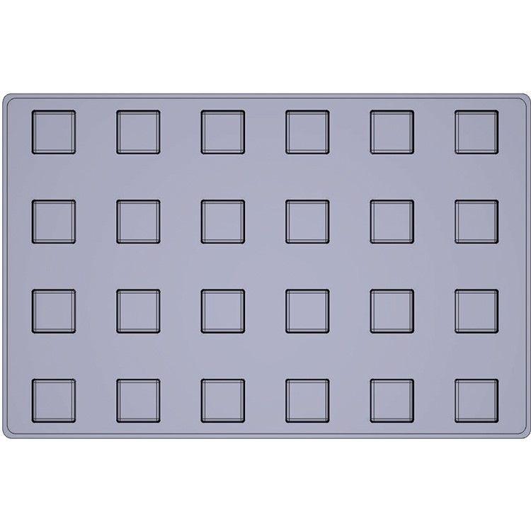 Moule silicone premium 24 alvéoles cubes