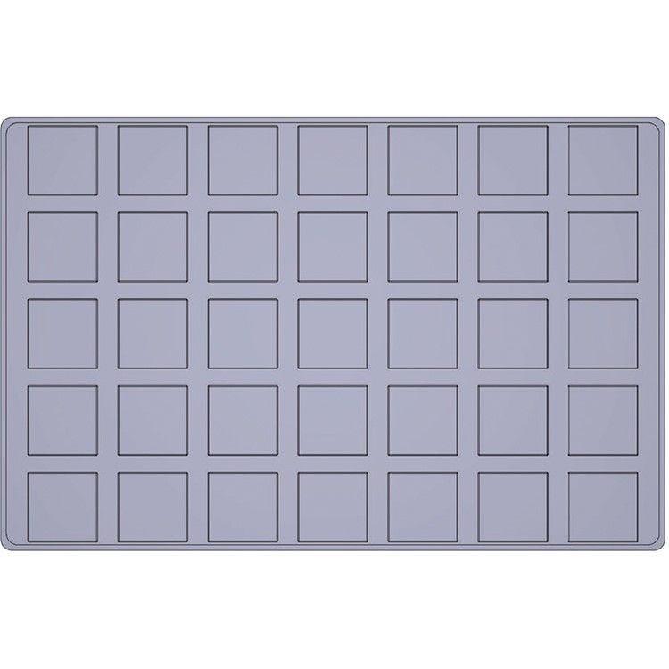 Moule silicone premium 35 alvéoles carrés bas