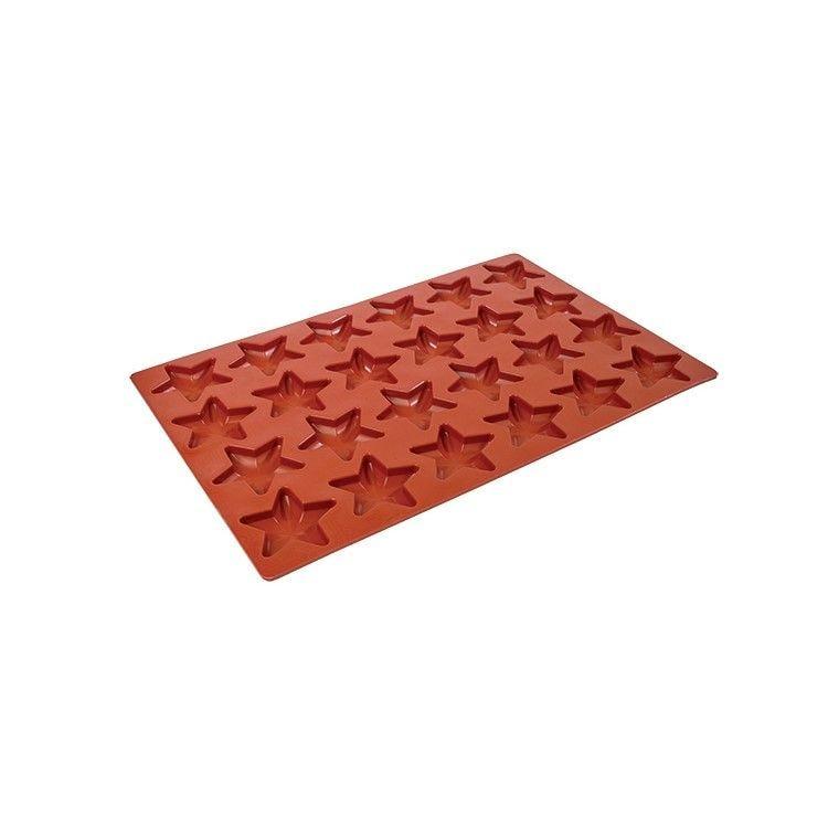 Moule silicone premium 24 alvéoles étoiles