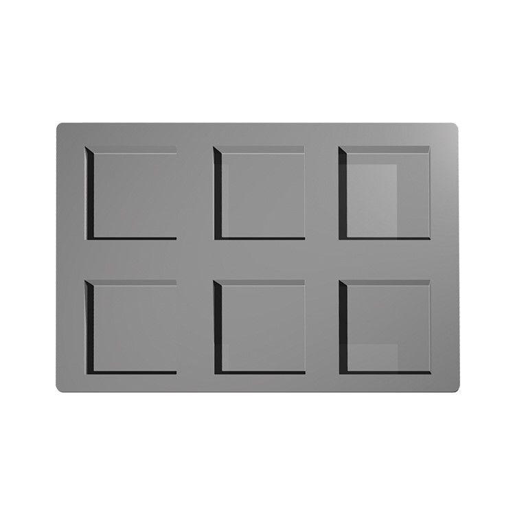 Moule silicone premium 6 inserts alvéoles carrés