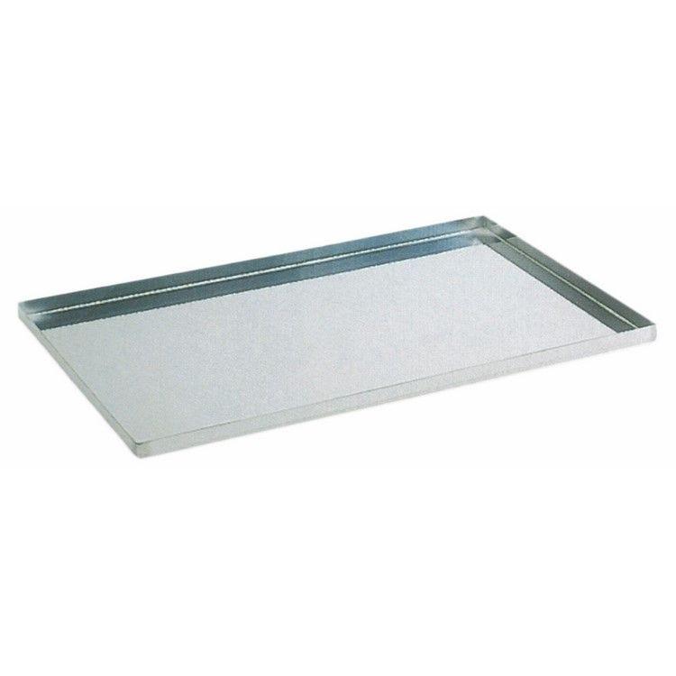 Plaque inox rebords 60 x 40 x 2 cm