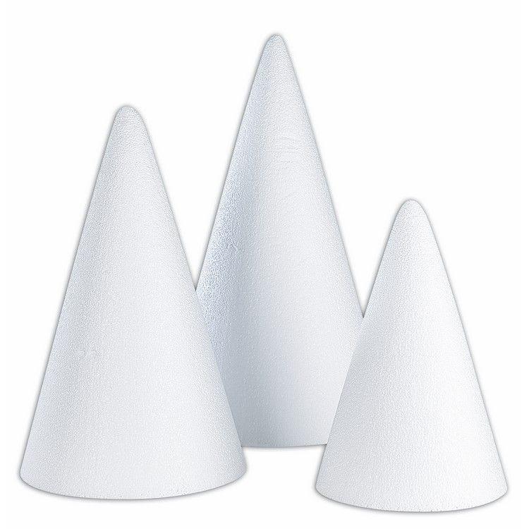 Cône polystyrène ø 15 hauteur 30 cm