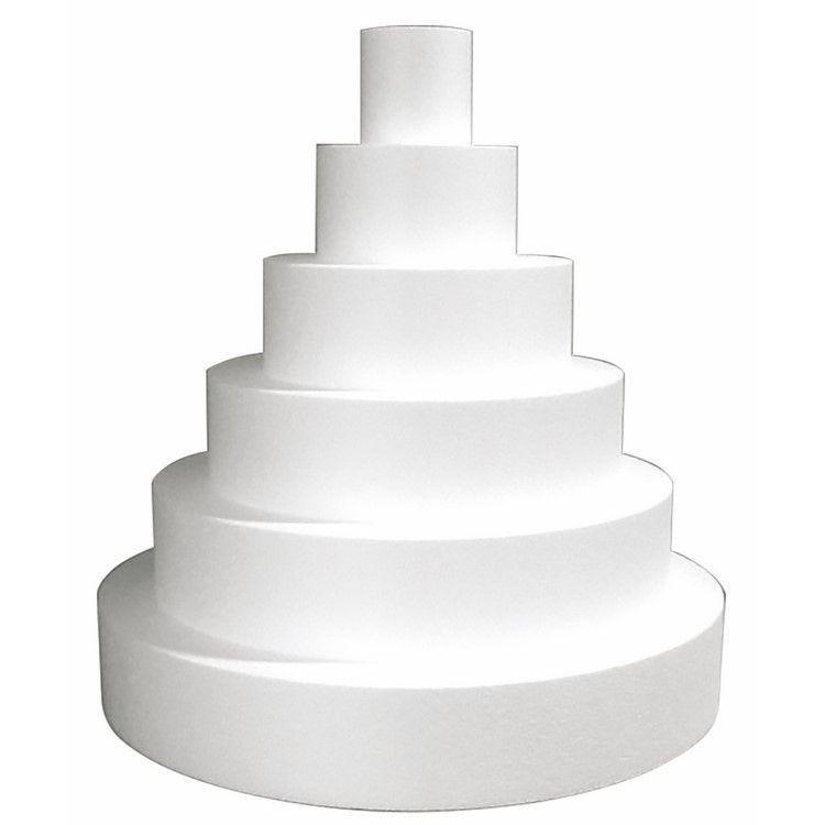 Gateau rond wedding cake en polystyrène de ø 58 cm